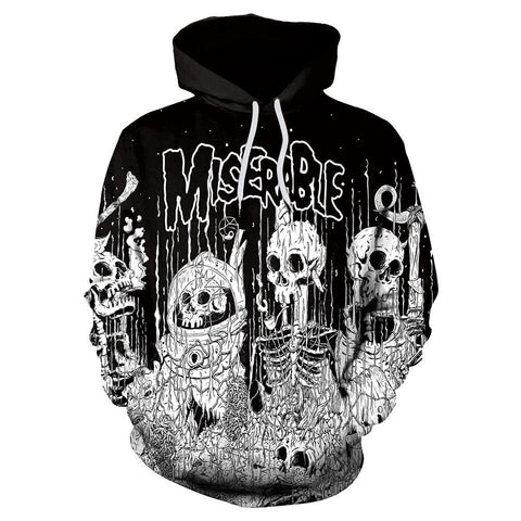 Image of Miserable Skeleton Hoodie