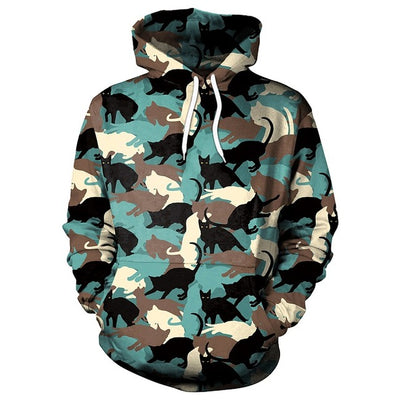 Camouflage Cats Hoodie