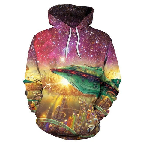 Image of Tangled Octopus In Galaxy Hoodie