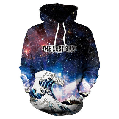 Tangled Octopus In Galaxy Hoodie