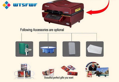 Freeshipping Wtsfwf ST-3042 3D Sublimation Heat Press Printer Heat Press Machine for Cases Mugs Plates Glasses Ceramics Wood