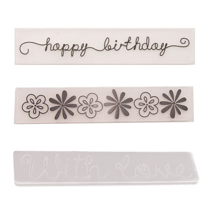 15x3cm Strip Embossing Folder