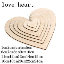 5-100 pcs DIY Blank Heart Wood Slices Wood Craft