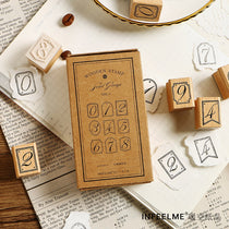 Vintage Number Wooden Stamps
