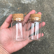 Glass Bottles with Cork 50ml 80ml 100ml 150ml 24pcs