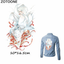 ZOTOONE Fantasy Fox Patches Iron on Transfer for Clothing Bags