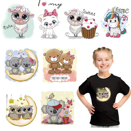 Cartoon Small Animals Iron On Heat Transfers