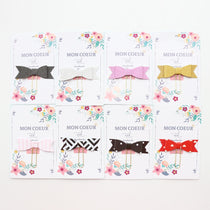 Domikee handmade Bow Paper clips set stationery 4 pieces/set