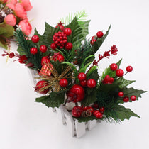 1pcs artificial flower red pearl stamen branch