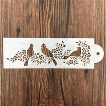Bird & Flowers Border Stencil