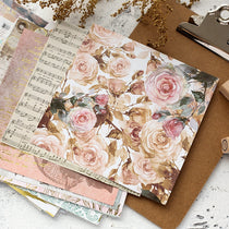 6inch paper pad flower metallic gold