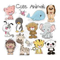 Cute Bear Animals Patches Washable Iron-on Transfers