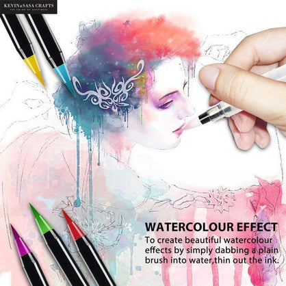 20 Color Set Watercolor Markers