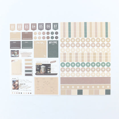 Domikee decorative time stickers 2sheets