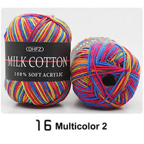 18 Colors Knit Milk Soft Cotton Wool Yarn