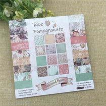 "24 sheets 6""X6"" Ripe pomegranate paper Scrapbooking pack"