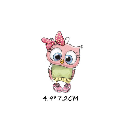 Cute Animal Iron on Owl Dog Unicorn Patches for Kids