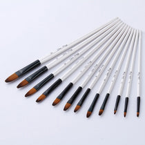 12 pcs/set Nylon Hair Wooden Handle Watercolor Paint Brush Set