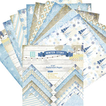 24 Sheets Winter Story Scrapbooking Pads Paper