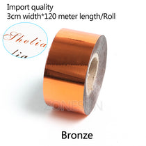 ZONESUN 3cm x 120m Hot Stamping Foil Roll