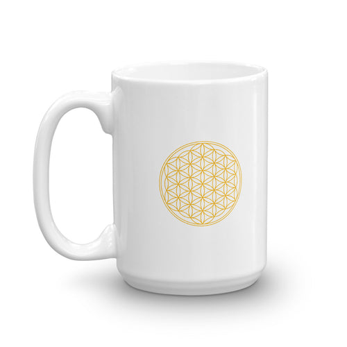 Golden Flower of Life Mug