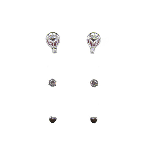 3pk Love Lift Signature Earring Silver