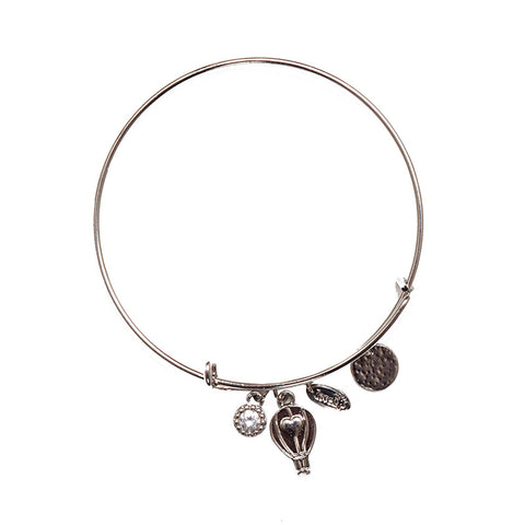 Love Lift Signature Bangle Silver