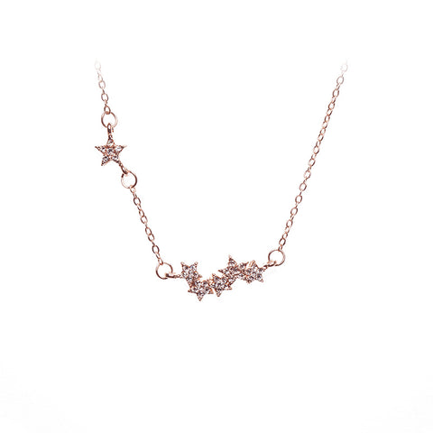 Love Lift Star Necklace Rose Gold