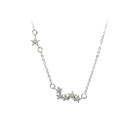 Love Lift Star Necklace Silver