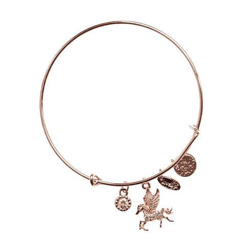 Love Lift Pegasus Bangle Rose Gold