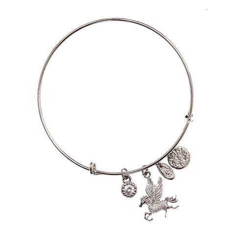 Love Lift Pegasus Bangle Silver