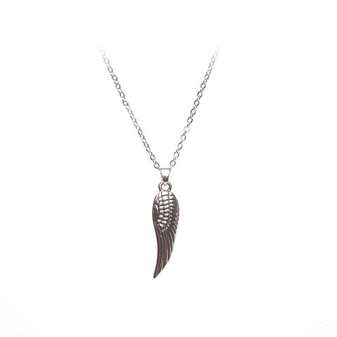 Love Lift Angel Wing Necklace Silver