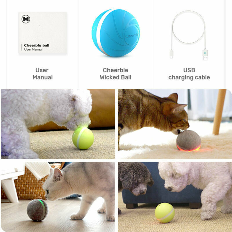 LED Activated Jumping Toy Ball for Dogs