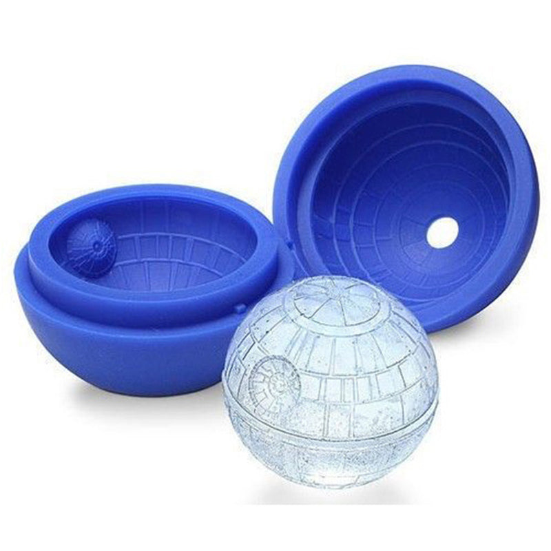 Hot Creative Silicone Blue Wars Death Star Round Ball Ice Cube Mold Tray Desert Sphere Mould DIY Cocktail Forma De Gelo K0207