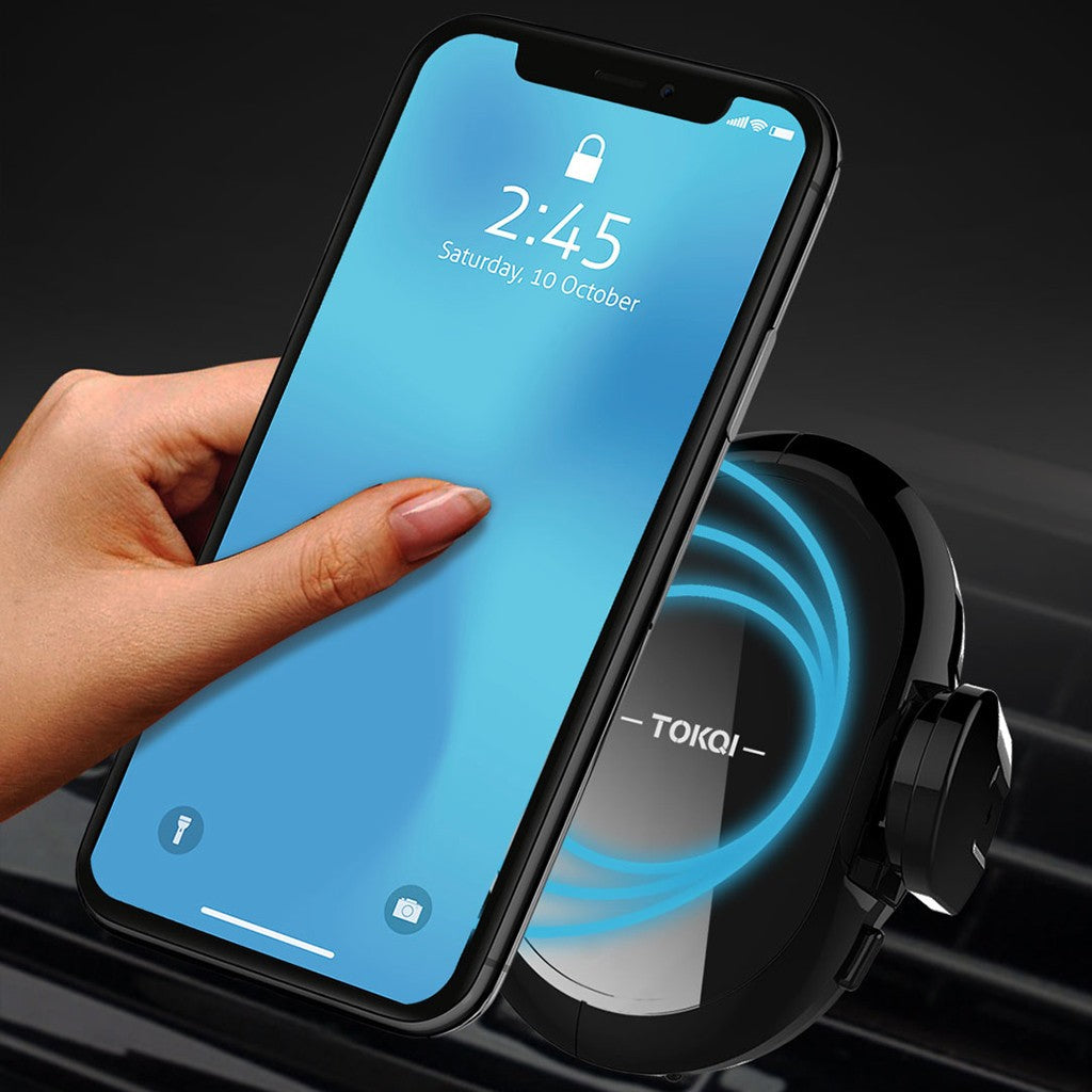 Qi Wireless Car Charger Magnetic Mount Holder For Samsung S9 iPhone XS MAX XR