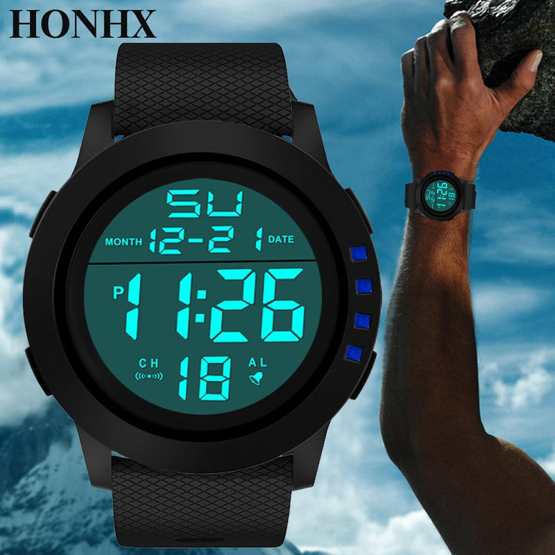 Luxury Men Analog Digital Military Sport LED Waterproof Wrist Watch