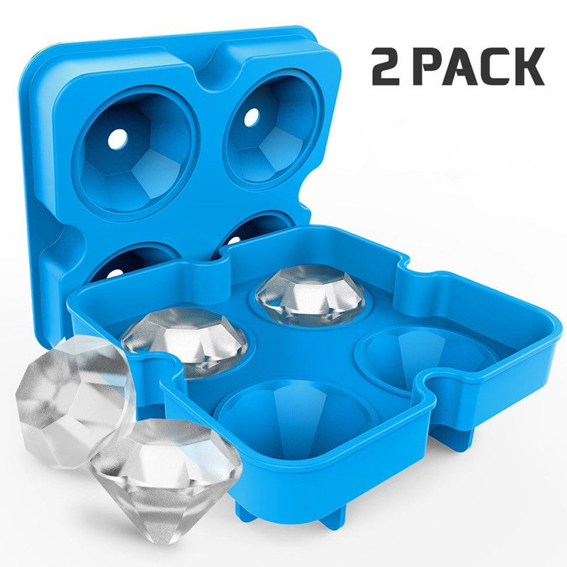 Ice Maker Diamond Shape Tray Mold Cube Cocktails Silicone for Whiskey Tool