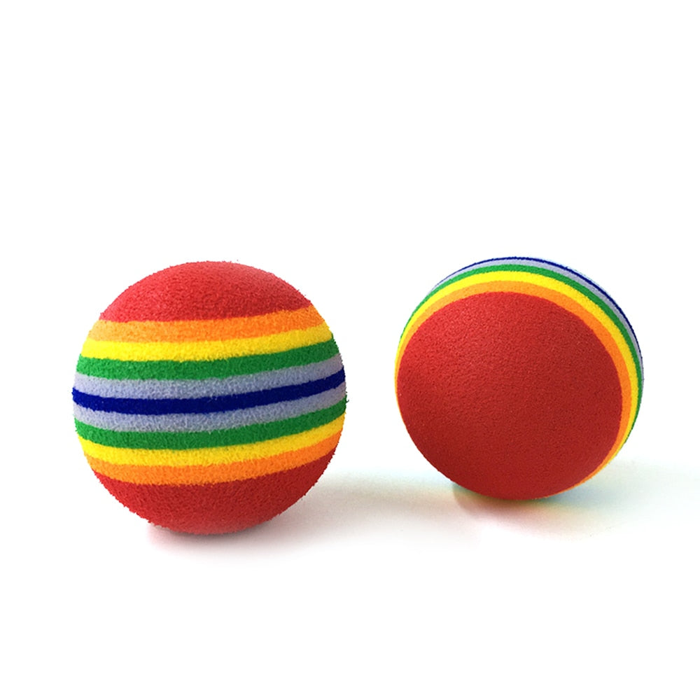 Rainbow Interactive Toy Ball for Cats