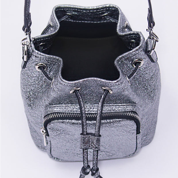 Le Poche Bucket Bag - Platinum