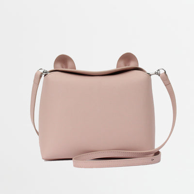 leather kitty handbag minibag pouch with detachable straps