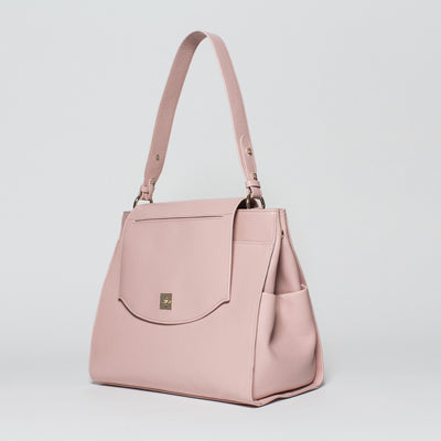 modern bag blush - pink leather work bag laptop bag gym bag diaper bag