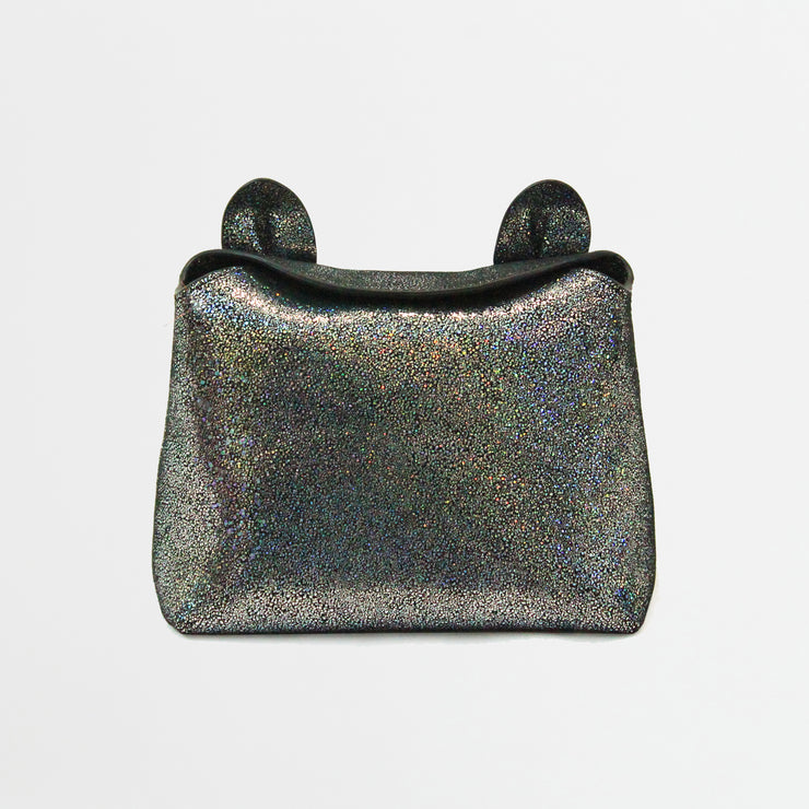 Sparkle Kitty Clutch - glitter leather kitty ear bunny ear clutch