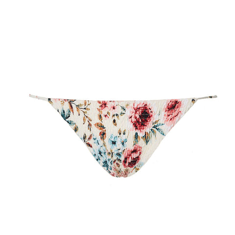Marais Ruched String Bottom In Ivory Floral
