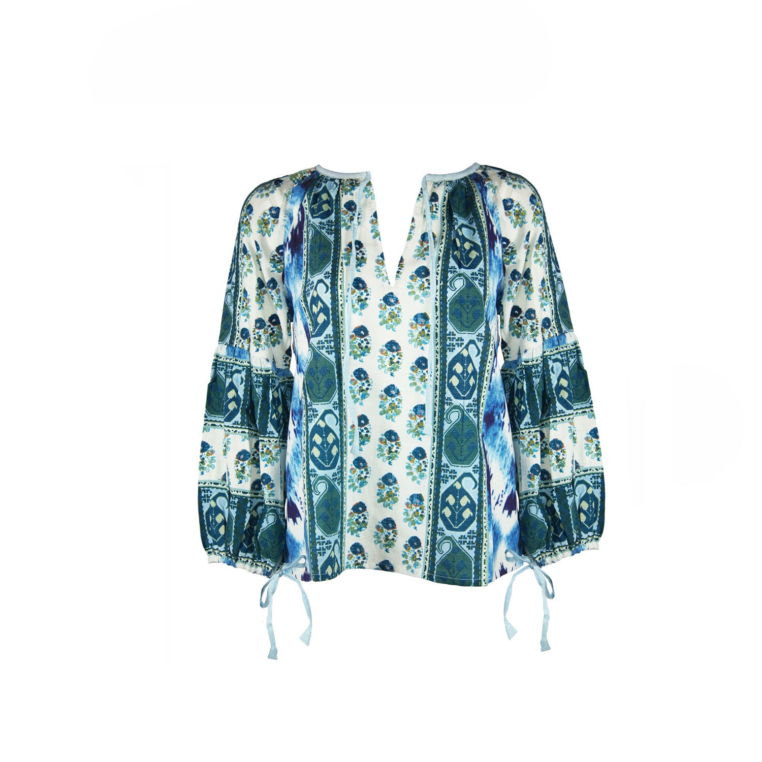 Blouse in Blue Multi