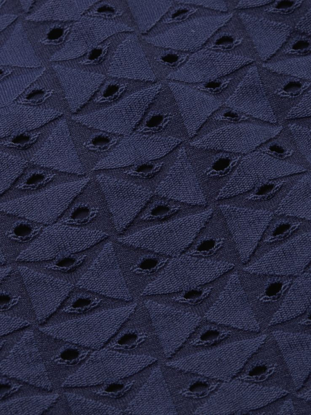 Textured Geo Eyelet Classic Bottom in Navy