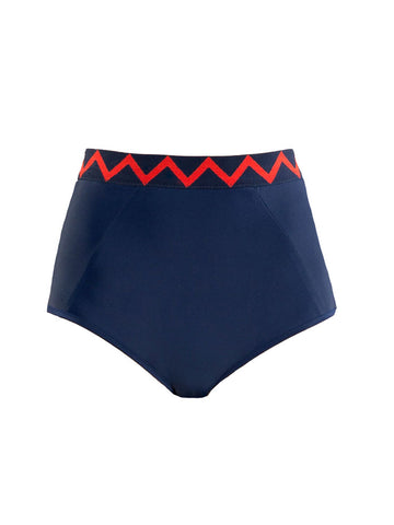 High Waist Bottom with Zig Zag Detail