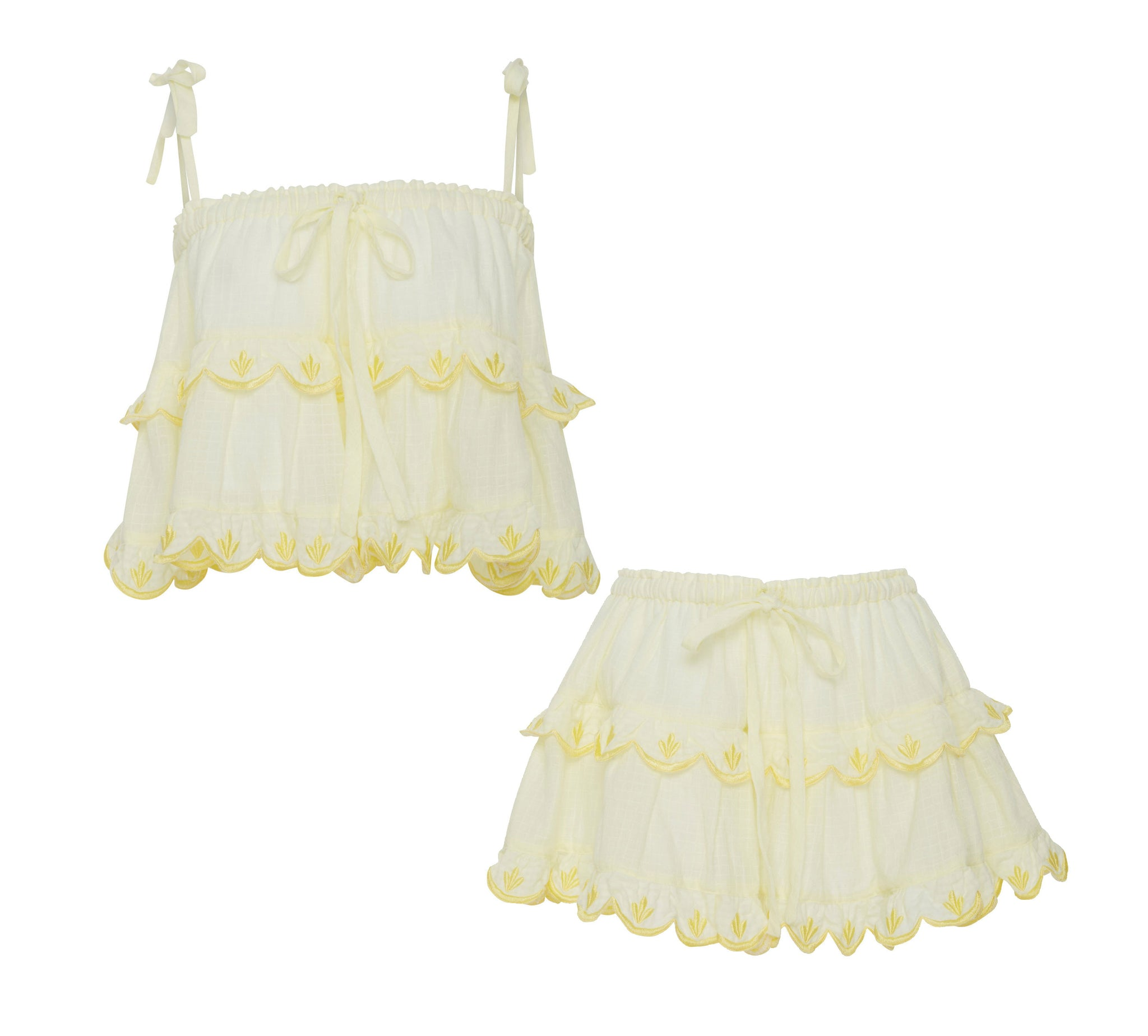 Stella 2 in 1 Top & Skirt in Yellow