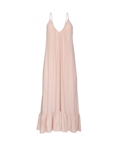 Paloma Long Coverup Dress in Dusty Rose
