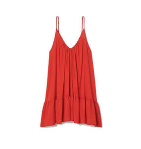 St. Tropez Mini Dress Coverup in Red