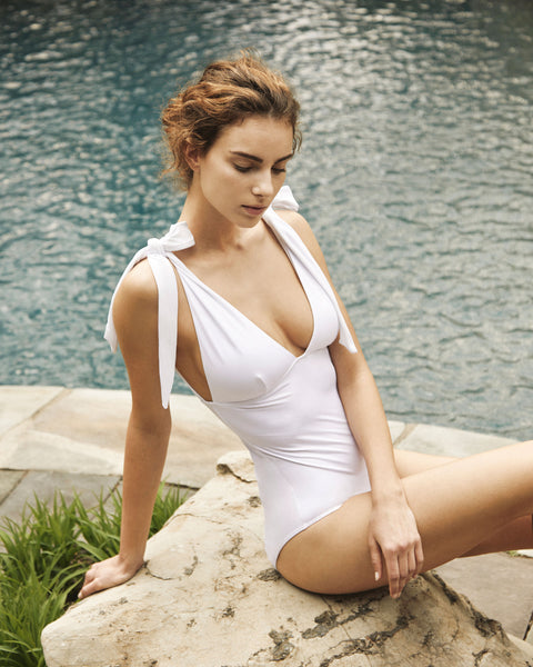 Eve Bow One Piece in White